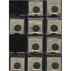 Canada Toonie Collection of 22 Coins