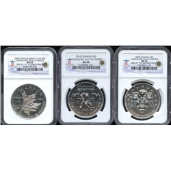 2008 2009 2010 Olympic Silver Maple Leafs - Lot of 3