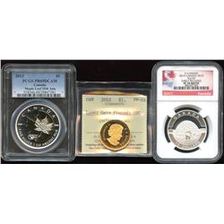 RCM - Lot of 3 Graded Coins
