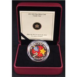 2013 Canada $20 Candy Cane Fine Silver Coin (NO TAX)