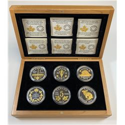 2015 5-Cent Fine Silver Coin Collection of 6