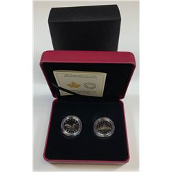 2017 30th Anniversary of the Loonie Fine Silver 2 Coin Set