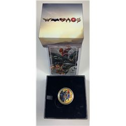 2018 Justice League United We Stand $100 Gold with Signed Card