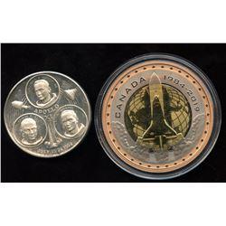 Moon Landing - Lot of 2 Medallions
