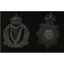 Royal Irish & Lancaster Constabulary Badges - Lot of 2