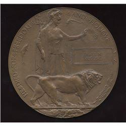 WW1 - Memorial Plaque for Canadian