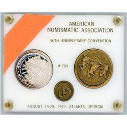 H. Don Allen Collection - 1973 ANA Numismatic Association 86th Convention 3-Medal Set