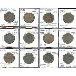 """Lot of 12 US """"Hard Times"""" tokens"""