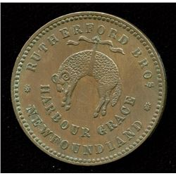 Br. 953.  1846 Rutherford halfpenny.