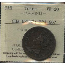 Br. 867.  Rare 1823 Thistle, Co. 255.