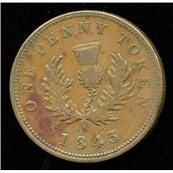 Br. 873.  1843 NS penny.