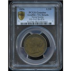 Nova Scotia.  Victoria Brass ½ penny, BR 876
