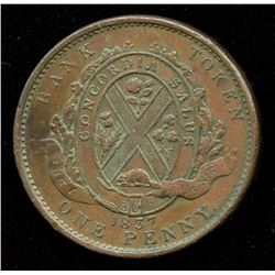 Br. 521.  City Bank habitant, coinage axis.
