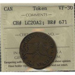 J. Roy Montreal UN SOU Commerce Token, BR 671