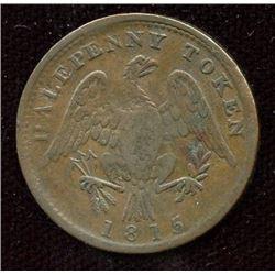Br. 994.  1815 Halfpenny Token.