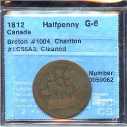 Br. 1004.  Copper, 1812.