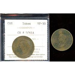 Pair of George Ords tokens.