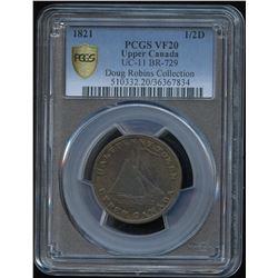 """Upper Canada """"Jamaica Cask"""" ½ penny Token, BR 729"""