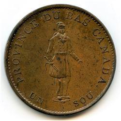 Br. 522, 1837 City Bank, Half Penny Token.