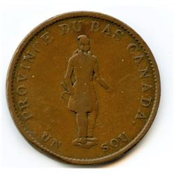 Br. 522, 1837 City Bank, Half Penny Token.