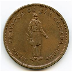 Breton 521, 1837 City Bank, One Penny Token.