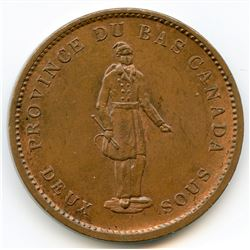 Breton 521, 1837 Quebec Bank, One Penny Token.