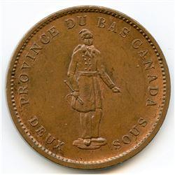 Breton 521, 1837 Quebec Bank, One Penny Token.