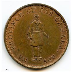 Breton 522, 1837 Bank of Montreal, Half Penny Token.