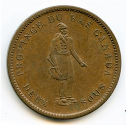 Breton 521, 1837 Bank of Montreal, One Penny Token.