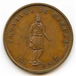 Breton 529, 1852 Quebec Bank, Half Penny Token.