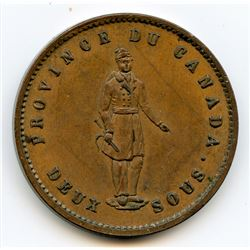 Breton 528, 1852 Quebec Bank, One Penny.