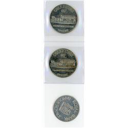 H. Don Allen Collection - J.D. Ferguson Numismatic Tokens. Lot of 3