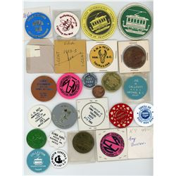 H. Don Allen Collection - American Vecturist (Transportation Token) Association Group. Lot of 79