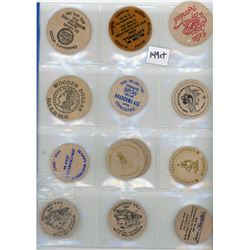 H. Don Allen Collection - Wooden Token Lot