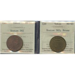 Pair of Leroux Card Tokens, BR 582