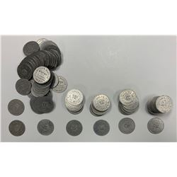 Bulk lot of 119 Shores's Service Station, Hamilton, Ontario Tokens.