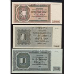 National Bank of Bohemia and Moravia Banknote Collection
