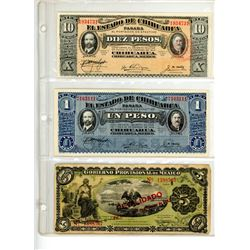 World Banknotes - Europe, Asia and South America