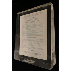 John Labatt Limited 33,000,000 Debenture