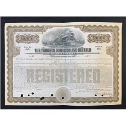 Toronto Hamilton & Buffalo Railway Co. Stock Certificate, $1,000