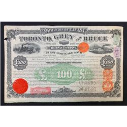 Toronto Grey & Bruce Railway Co. Stock Certificate