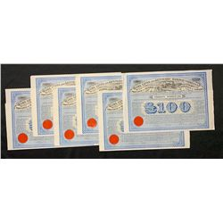 Levis and Kennebec Railway Company £100 Sterling Debenture with coupons