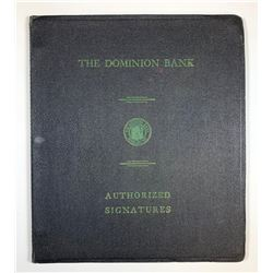 The Dominion Bank Authorized Signatures Ledger