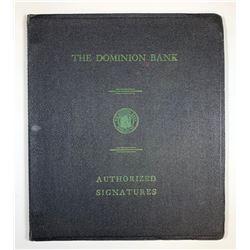 The Dominion Bank Authorized Signatures Ledger