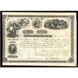 Stroudsburg Bank (Pennsylvania, 1878 - issued/cancelled)