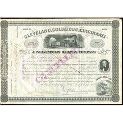 Cleveland, Columbus, Cincinnati & Indianapolis Railway Company (Ohio, 1880 - issued/cancelled)