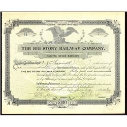 Big Stony Railway Company (Virginia, 1896 - issued/cancelled)
