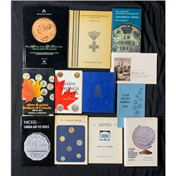 Books - Banking Books, auction catalogues, stamp book, wooden money books