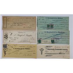 H. Don Allen Collection - Ontario Private Bank Cheques