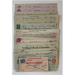 H. Don Allen Collection - Cheques on Quebec-Based Banks